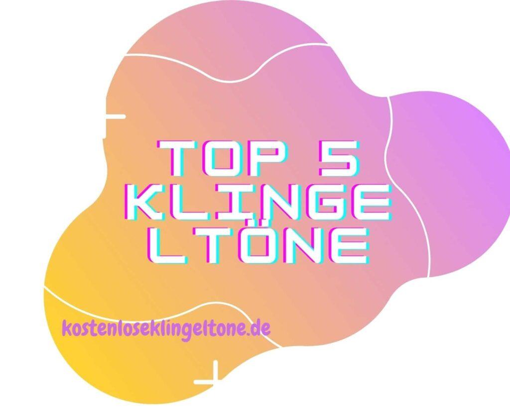 Top 5 der beliebtesten deutschen Klingeltöne aller Zeiten