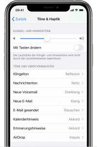 wie kann man eigene klingeltöne beim iphone einstellen